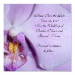 """Save the date Wedding announcement orchid 5.25"""" Square Invitation Card"""