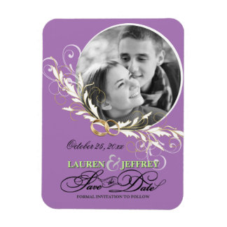 Save the Date Wedding Announcement Photo Magnets