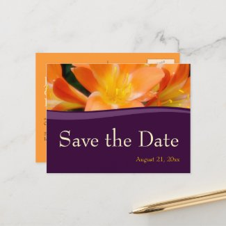 Save the Date Wedding Announcement Postcard