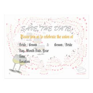Save the Date Wedding Announcement (Wedding Swirl) Postcards