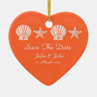 Save The Date wedding beach theme announcement Ornament