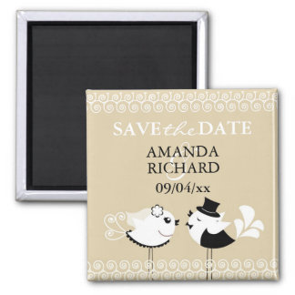 Save The Date Wedding Birds Magnet