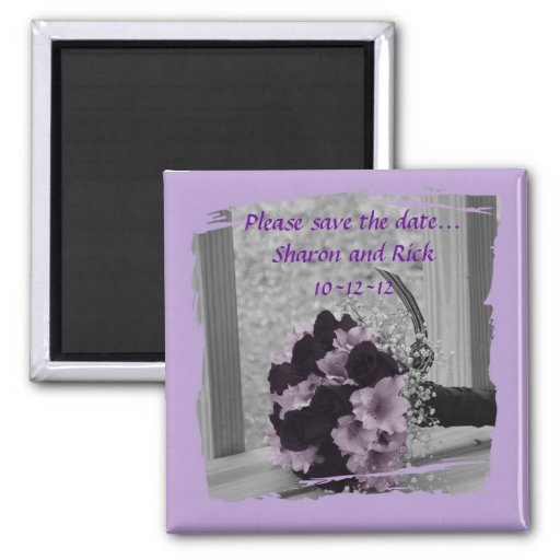 Save the Date Wedding Bouquet Magnet