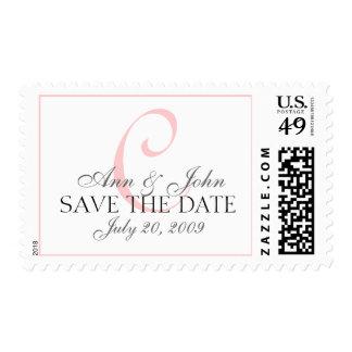 Save the Date Wedding Bride Groom Monogram C Stamp