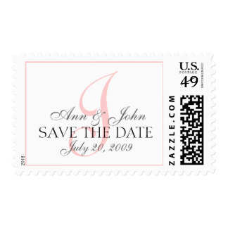 Save the Date Wedding Bride Groom Monogram J Stamp