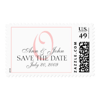 Save the Date Wedding Bride Groom Monogram O Stamp
