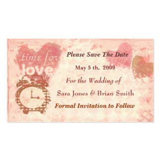 Save the Date Wedding Card (Business size) Business Cards