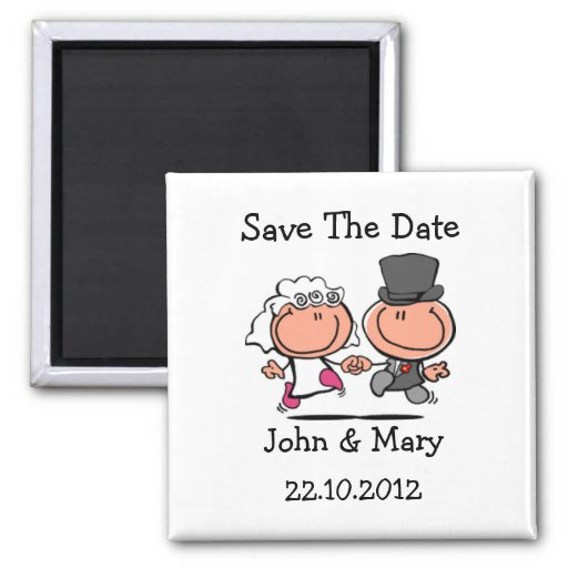 Save the Date Wedding Couple cartoon Magnet