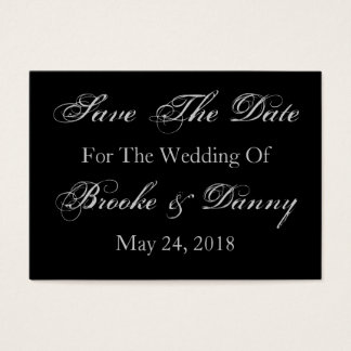 Save The Date Wedding Date Bride Groom Names Business Card