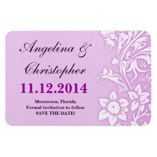 save the date wedding elegant magnets