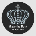 Save the Date Wedding Envelope Seal Round Stickers