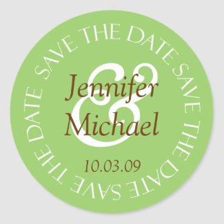 Save The Date Wedding Envelope Seal Stickers sticker