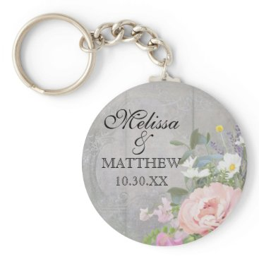 luxuryweddings Save the Date Wedding Favors Rustic Wood Floral Keychain