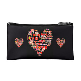 Save the Date Wedding Heart of Love Bride Cosmetic Bag