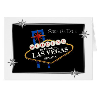 """Save the Date"" Wedding In Fabulous Las Vegas Sign Card"