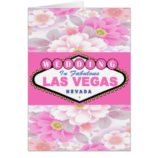 Save the Date Wedding In Las Vegas Card