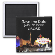 Save The Date Wedding In Las Vegas Magnet at Zazzle