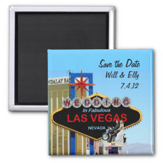 Save the Date Wedding In Las Vegas Motorcycle Magn Magnet