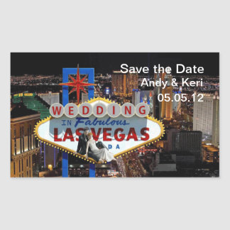 Save the Date WEDDING IN LAS VEGAS Sticker