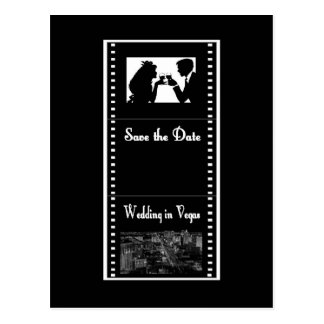Save the Date Wedding in Vegas Postcard