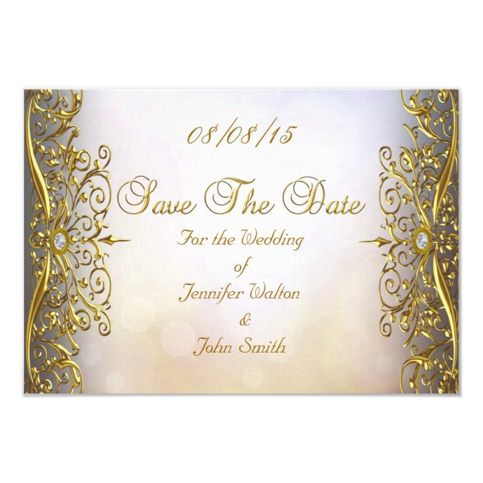 Gold Coast Wedding Invitations: SAVE THE DATE Wedding Invitation