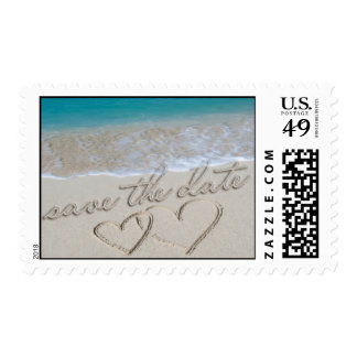 Save the Date Wedding Invitation Postage Stamp