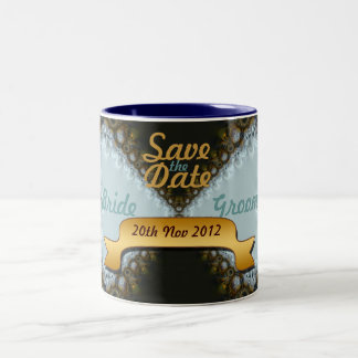 Save the Date Wedding Lace Mug