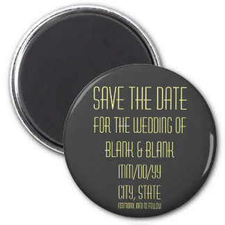 SAVE THE DATE wedding magnet - personalize info