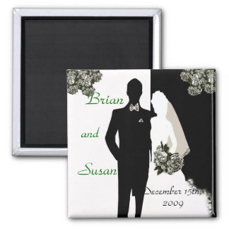 Save the Date Wedding Magnet Template