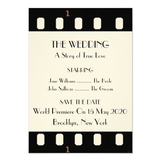 Save The Date Wedding Movie Film (Old Version) Card