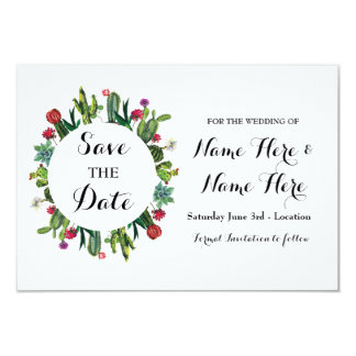 Save The Date Wedding Party Cactus Fiesta Cards