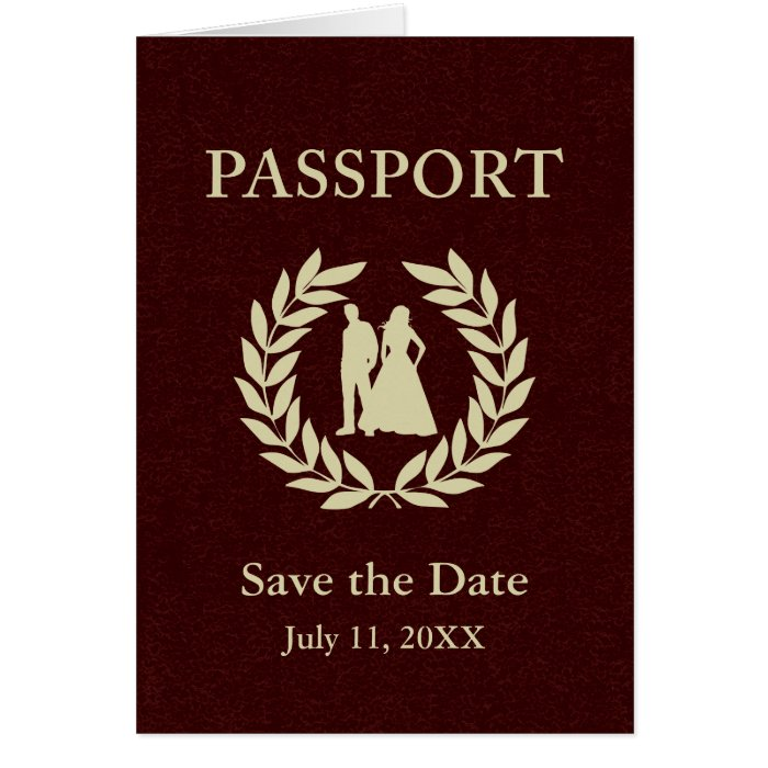 Save the date wedding passport card zazzle for Save the date passport template