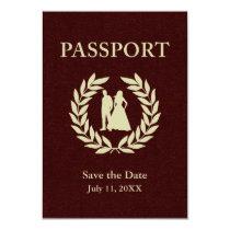 save the date wedding passport invitation