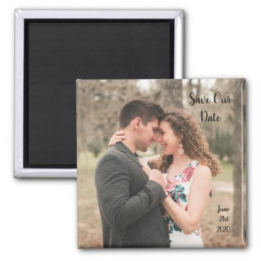 Save The Date Wedding Photo Magnet