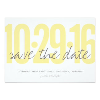 Save the date, wedding, photo on back card
