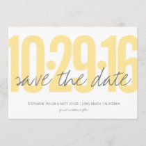 Save the date, wedding, photo on back save the date