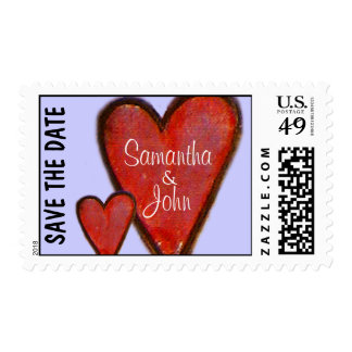 Save the Date Wedding - Postage Stamps