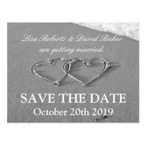 Save the date wedding postcard | Beach theme