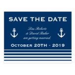 Save the date wedding postcard | Nautical theme