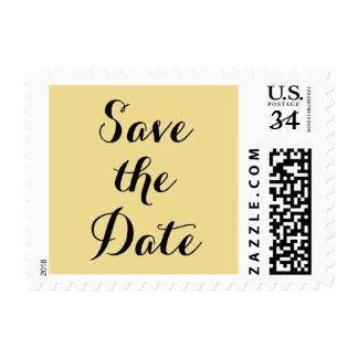 Save the Date Wedding Postcard Postage Stamp