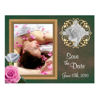 Save the Date wedding postcards(altered) Postcard