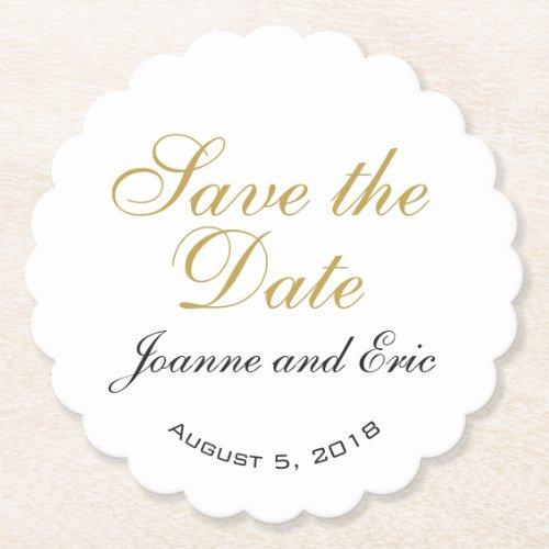 Save the date wedding pub custom coaster