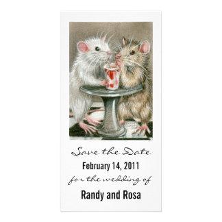Save the Date Wedding Rat Photo Card