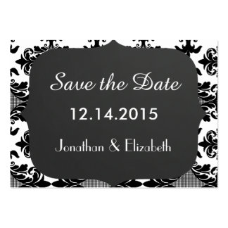 Save the Date Wedding Reminder Large Business Cards (Pack Of 100)