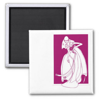 Save the date wedding reminder 2 inch square magnet