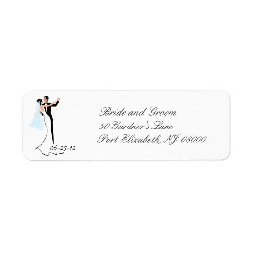 Save the Date Wedding Return Address Labels