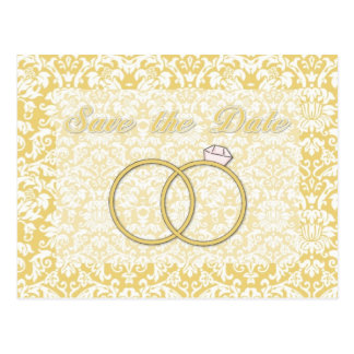 Save the Date Wedding Ring Damask Card (2)