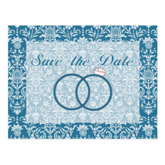 Save the Date Wedding Ring Damask Card (4)