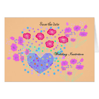 Save the date wedding rsvp card