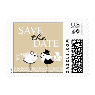 Save The Date Wedding Small Postage